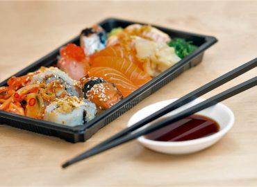 Sushi is served at Phengphian Laogumnerd Cuisine